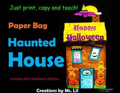 A quick and easy Haunted House craft with Halloween and non-Halloween options.  :: Haunted House  ::  Haunted House Craft  ::  Paper Bag Craft  ::  Halloween Crafts for Kids  ::  Halloween Craft  ::  October Craft  ::  Fall Activity   ::  Haunted House craft  ::  Haunted House activity  ::  Halloween Haunted House  ::