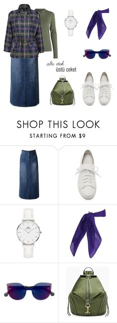 """altı etek üstü ceket"" by busraerdogan on Polyvore featuring moda, WithChic, Santoni, Daniel Wellington, RetroSuperFuture ve Rebecca Minkoff"