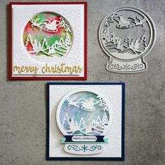 Creative Die-Cuts Merry /& Christmas Greetings Curved Banners Gold or Silver NEW