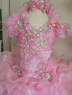 Candy pink pageant dress by Royalty Designs www.royaltydesigns.net