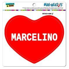 336c08380eb I Love Heart - Male Names - Marcelino - MAG-NEATO S(TM) Vinyl Magnet