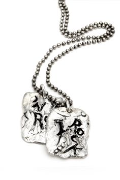 """Hand Made Sterling Silver """"I Rock 'N Roll"""" Pendant with 20"""" Chain"""