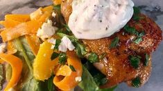 Spicy Orange Glazed Chicken Thighs with Shaved Carrot Salad Recipe | The Chew - ABC.com