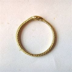 The world's most perfect ouroboros ring
