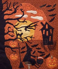 Halloween Quilt ~ no pattern, on display at Heritage Park, Calgary | photo by njchow82 @ Flickr