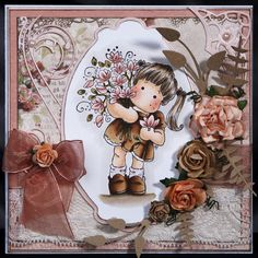 Magnolia 'Tilda Loves Flowers' Handmade Card - Any Occasions (Boxed)
