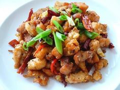 Szechuan Chicken. Sichuan (or szechuan) peppercorns are hard to find due to an import ban being placed on them, but since the ban is lifted it's ABSOLUTELY worth buying/using/enjoying them
