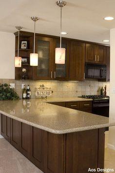 Warm Brown Kitchen Cabinet Paint Color Ideas.
