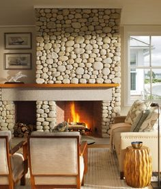 25 Best River Rock Fireplaces Images In 2016 Fireplace