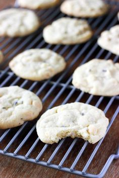 Chewy White Chocolate Lavender Cookies