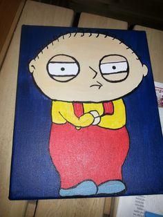 Stewie Griffin. ( Akryylit.) #art