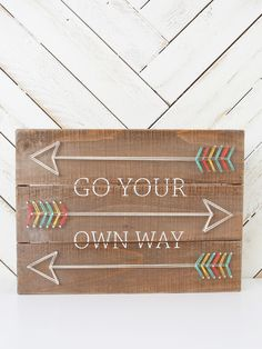 Go Your Own Way String Art Sign | Altar'd State