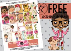 Free Printable Ridiculously Amazing Planner Stickers from Victoria Thatcher Free Planner, Planner Pages, Happy Planner, Planner Sheets, Passion Planner, Planner Inserts, Printable Planner Stickers, Journal Stickers, Free Printables