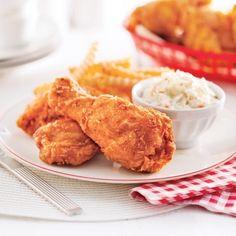 Du poulet mariné, croustillant et légèrement piquant… un délice!