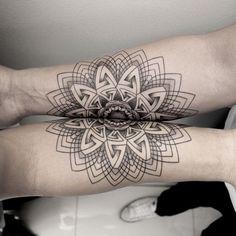 Tattoo - Mandala - Geometric - Line - Arm - Symmetric