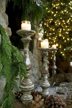 ♔ French country cottage Christmas
