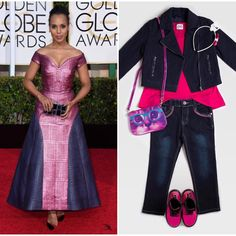 """Here's a """"Purr-ty in Pink"""" outfit inspired by @KerryWashington at last nights 2015 Golden Globe Awards. Didn't she look 'purr-fect'?  #RAINEandRILEYS #childrensclothing #store #shop #boutique #kidsfashion #fashionkids #lads #lasses #boys #girls #GoldenGlobes #2015 #bestdressed #KerryWashington #scandal #actress #awards #pretty #purrty #kitty #cat #purrfect #pink #bold #statement #gown"""