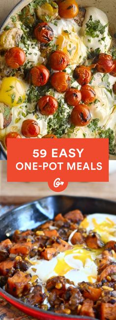 Ditch the dishwashing blues and make one of these easy recipes that come together in just one pot. #Greatist http://greatist.com/health/53-healthy-one-pot-meals