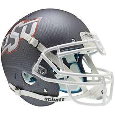 Oklahoma State Cowboys Aqua Tech Schutt XP Authentic Helmet - Alternate 6