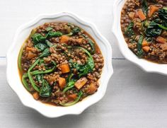 This recipe is taken from Healthy Comfort Dishes. I think a few of us have been put off the idea of lentils, considering them to be a bit boring and bland. I beg to differ for they are, in fact, hu… Healthy Eating Recipes, Veggie Recipes, Whole Food Recipes, Cooking Recipes, Eat Healthy, Soup Recipes, Puy Lentil Recipes, Fresh Cranberry Recipes, Cranberry Sauce
