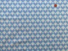 Corners in Blue by Ellen Baker 1/2 Yard Geometric by Owlanddrum