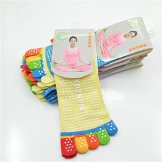 Multicolor Cotton 5 fingers Socks