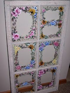 Upcycled old wood window made into a picture frame