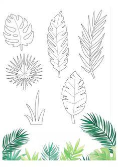 Paper Flowers Diy, Flower Crafts, Diy Paper, Paper Butterflies, Leaves Template Free Printable, Owl Templates, Applique Templates, Applique Patterns, Free Printables