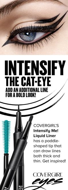Try this easy, breezy way to put a modern spin on the classic Cat-Eye using COVERGIRL'S Intensify Me! Liquid Liner.