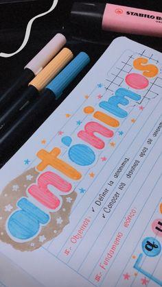 Bullet Journal Banner, Bullet Journal Notes, Bullet Journal Aesthetic, Bullet Journal Writing, Bullet Journal School, Bullet Journal Ideas Pages, Bullet Journal Inspiration, Note Doodles, School Organization Notes