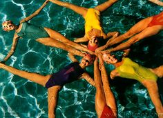 shot photo of swim team or synchronized swim team