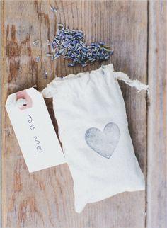 lavender seeds for your guests to toss #weddingceremony #weddingideas #weddingchicks http://www.weddingchicks.com/2014/02/03/dream-moments-wedding/