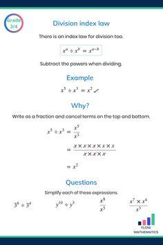 Indices revision guides - Flow Mathematics Maths Exam, Maths Algebra, Calculus, Math Worksheets, Math Resources, Chemistry Notes, Chemistry Revision, Professor, Gcse Math
