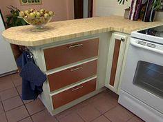 Kitchen Peninsula Ideas | Build a Bamboo Butcher Block Kitchen Peninsula : Rooms : Home & Garden ...