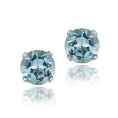 @Overstock - Basic and beautiful, these earrings are the perfect size and color for everyday use. Each earring features one round-cut Swiss blue topaz stone set into highly polished 14-karat white gold.http://www.overstock.com/Jewelry-Watches/Glitzy-Rocks-14k-White-Gold-3-1-5ct-TGW-7mm-Swiss-Blue-Topaz-Stud-Earrings/6184900/product.html?CID=214117 $69.99
