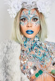 Missguided The Gypsy Shrine Blue Snow Ice Queen Chest Piece