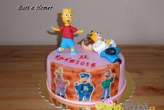 dětský dort Bart a Homer