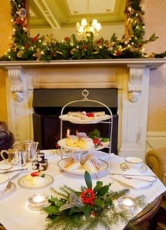 Festive afternoon tea at Ashdown Park Hotel.