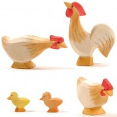 Hühner ocker 5tlg. Ostheimer SET