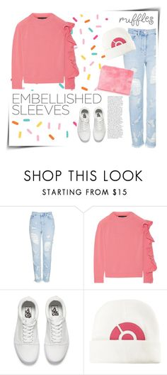 """""""Embellished sleeves : Ruffles"""" by groove-muffin ❤ liked on Polyvore featuring Topshop, Paper London, Vans and Nintendo"""