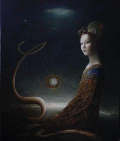 «Zeta» Oil painting on canvas. 120x90cm. P.E