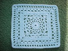 March block - Cygnus Square -  free crochet granny square pattern