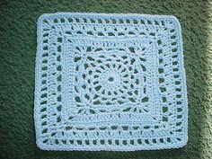 March block - Cygnus Square -  free crochet granny square pattern