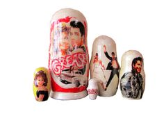 Matryoshka Grease. 5 Piece Nesting Doll от bessershop на Etsy