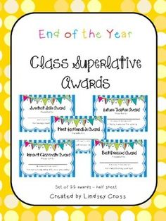 ... classroom on Pinterest | Student Awards, End Of Year and Candy Awards