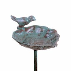 Freestanding Garden Bird Feeder Verdigris Cast Iron Leaf on a Stake for sale online Garden Decor Items, Garden Gifts, Garden Bird Feeders, Garden Ornaments, Fathers Day Gifts, Cast Iron, Decorative Bowls, Leaves, Outdoor Decor