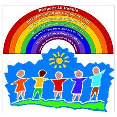 Rainbow Principles Kids Poster