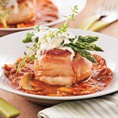 Tournedos de poulet aux asperges et fromage - Recettes - Cuisine et nutrition - Pratico Pratique