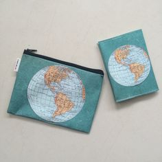 If you travel the world often, get these world map zipper pouch and passport cover to keep your documents and passport in style