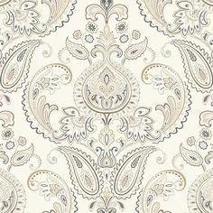 "Found it at Wayfair - Candice Olson Inspired Elegance Tasara 27' x 27"" Paisley Wallpaper"